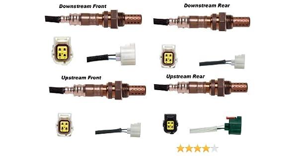 Downstream Oxygen Sensor For 2002 2003 Jeep Liberty V6 3.7L US 4pcs Upstream