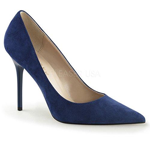 Suede Talons à Femme Classique Pleaser Denim Chaussures 20 6qxO6wR0