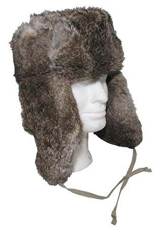Marrón Trapper Piel de conejo S marrón Piel Sombrero
