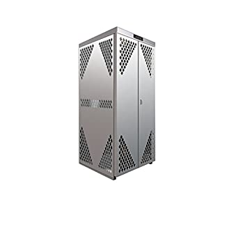 Securall Aluminum Cylinder Storage Cabinet   Vertical Oxygen Gas Cylinder  Storage   5 Cylinder Capacity