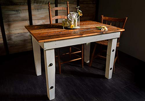 Reclaimed Wood Farmhouse Table - Sugar Mountain Woodworks - Handmade Rustic Wooden Work Table, Computer Desk, Dining ()