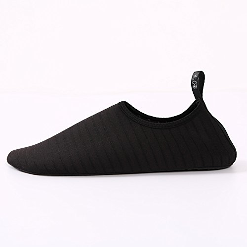 SENFI Wasserschuhe athletische Aqua-Socke für Wasser-Sport-Strand-Pool-Boot Schwarz