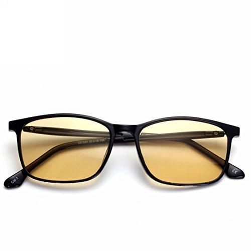 US Patent-Melanin! Viscare TR90 Optical Rx Designer Computer Gamer Glasses for Men Women, Blue Light Filter UV Blocking Digital Eye Strain Relief Anti-glare Radiaton - Gunnar Rx