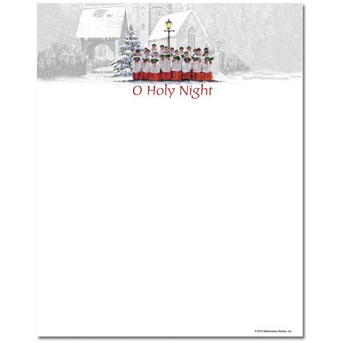 O Holy Night Christmas Choir Holiday Computer Printer Paper (100 Sheets)