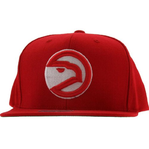 NBA Mitchell & Ness Atlanta Hawks Hardwood Classics Basic Vintage Logo Snapback Hat - Red