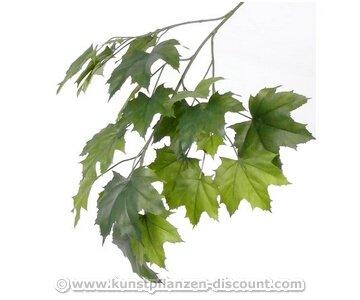 Mischwaldbaum Ahornzweig mit 23 unterschiedlich grünen Blättern, Gesamtlänge inkl. Stiel ca. 80cm, schwer entflammbar - künstliche Zweige, Kunstpflanzen, künstliche Pflanzenzweige, Kunstzweige, Dekozweige, Bühnendekoration, Theatheraufführung Edellaubbaum - großes Sortiment an künstlichen Ästen