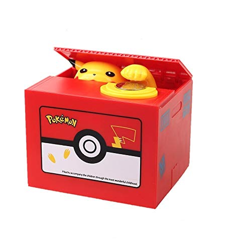 Interestingsport Limited Edition Creative Anmial Pikachu Automated Stealing Piggy Bank Toy Coin Bank Money Banks Coin Can for Kids