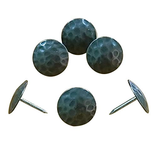 Wild West Hardware Clavos, 1 inch diam. Head, Oil Rubbed Bronze Finish, Decorative Nails, Pack of 10