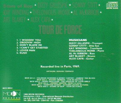 Tour De Force: Stars of Bop (Live in Paris, 1969)
