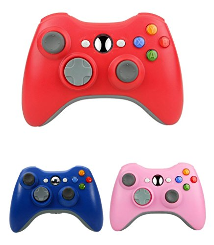 Bek Design Wireless Controller Game Pad Color for Xbox 360 (Red)