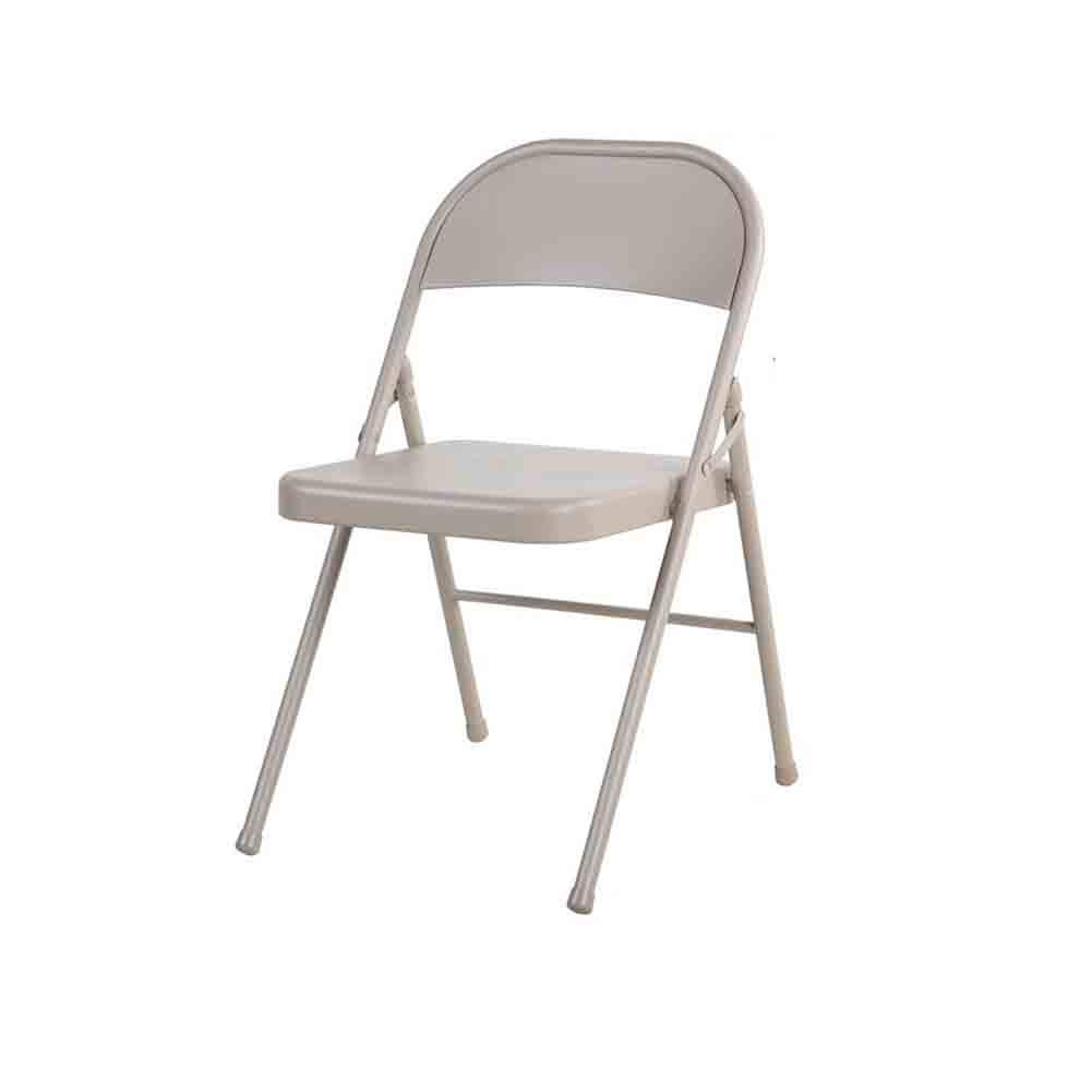 YYHSND Light Brown Folding Chair Full Metal Computer Chair Business Office Training Staff Chair Chair (Size : Pack-1)
