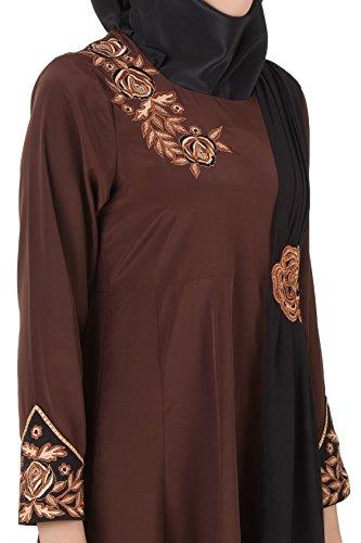 Brown AY MyBatua und Crepe Georgette Laiba 458 Eid Abaya wHFqTxfw