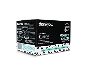 Thankyou Baby Nappies, Boys & Girls, Mover & Shaker, Toddler 10-15kg+ (72 Count)