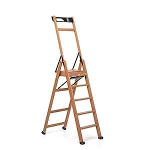 Foppapedretti laScala 5 - Escalera de tijera   (47 cm, 84 cm, 188 cm) Nuez