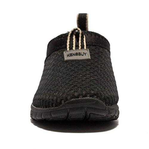 Kensbuy Uomo & Donna Sneakers Traspiranti In Mesh Leggero Per Esterni, Beach Aqua, Slip-on Shoes All Black