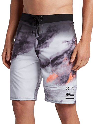 Hurley Men's Phantom Clark Little Lava Boardshorts, Multi, 36 by Hurley