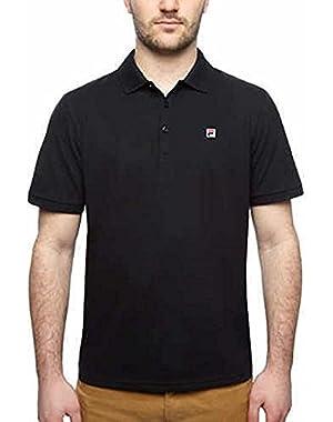 Men's Solid Color Short Sleeve Logo Polo Shirt