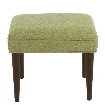 Modern Decorative Ottoman Green - Homepop Green by HomePop