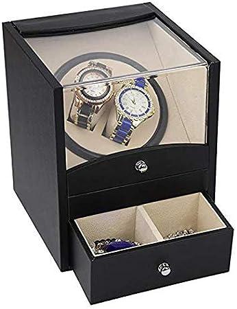 GOHHK Reloj con BateríA Winder Automatic 2 Relojes Caja PresentacióN, Reloj AutomáTico Winder Box Relojes Estuches Relojes Cajas Winders Estuche Almacenamiento Negro: Amazon.es: Hogar