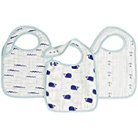 aden + anais snap bibs 3 pack, high seas