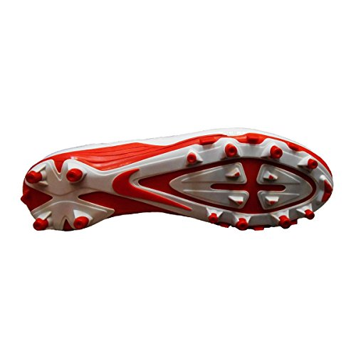 Nike Mens Alpha Pro Mitten Fotboll Knapar Vit / Orange Blixt