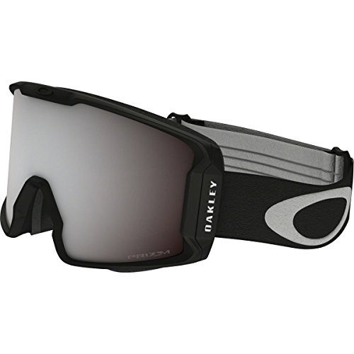 Oakley Men's Line Miner Snow Goggles, Matte Black, Prizm Black Iridium, - Googles Oakley