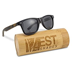 """Bamboo Sunglasses - 100% Polarized Wood Shades for Men & Women from the """"50/50"""" Collection"""