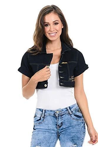 - M.Michel Women's Denim Jacket - Style 251 - Indigo - Size Large