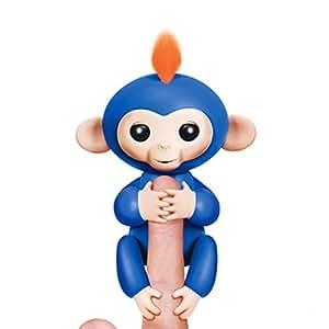 Finger Interactive Baby Monkey Toy Electronic Kids Halloween Toys Birthday Present-Blue