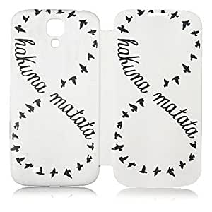 HJZ Eight Letter Pattern Leather Full Body Case for Samsung Galaxy S4 I9500