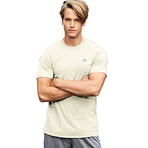 Champion Vapor Mens Cotton Basic Tee T0351_Chalk White_M