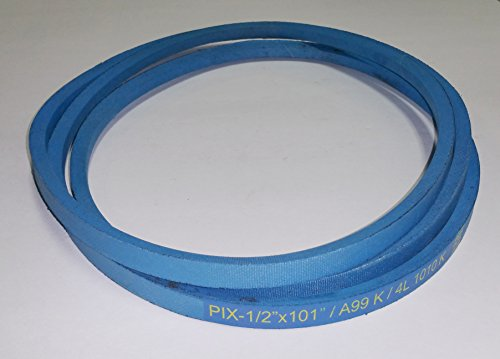 Pix Kevlar 0.5 X 101-Inch. Corded Belt for Craftsman Poulan Husqvarna 429636, 197253 Also John Deere M84136, - Belt Pix