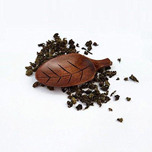 Funnytoday365 10Pcs/Lot Wooden Leaf Shape Tea Scoops Spoons Chopsticks Holder Nanmu Wood Eco Friendly Tea Tools by FunnyToday365