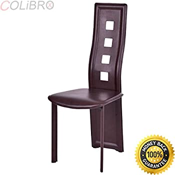4 dining chairs for sale kitchen nook colibroxset of dining chairs steel frame high back armless home furniture brown new kitchen chairs for sale brown steel dining amazon best amazoncom pu leather
