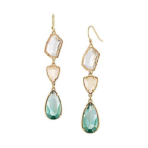 DanDanF Crystal Dangle Drop Earrings Statement Fashion Jewelry for Women Girls