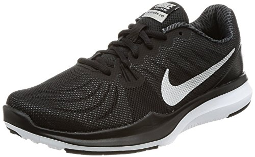 NIKE Women's in-Season 7 Training Shoe Black/Metallic Silver
