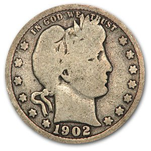 1902 Barber Quarter Good/VG Quarter Good