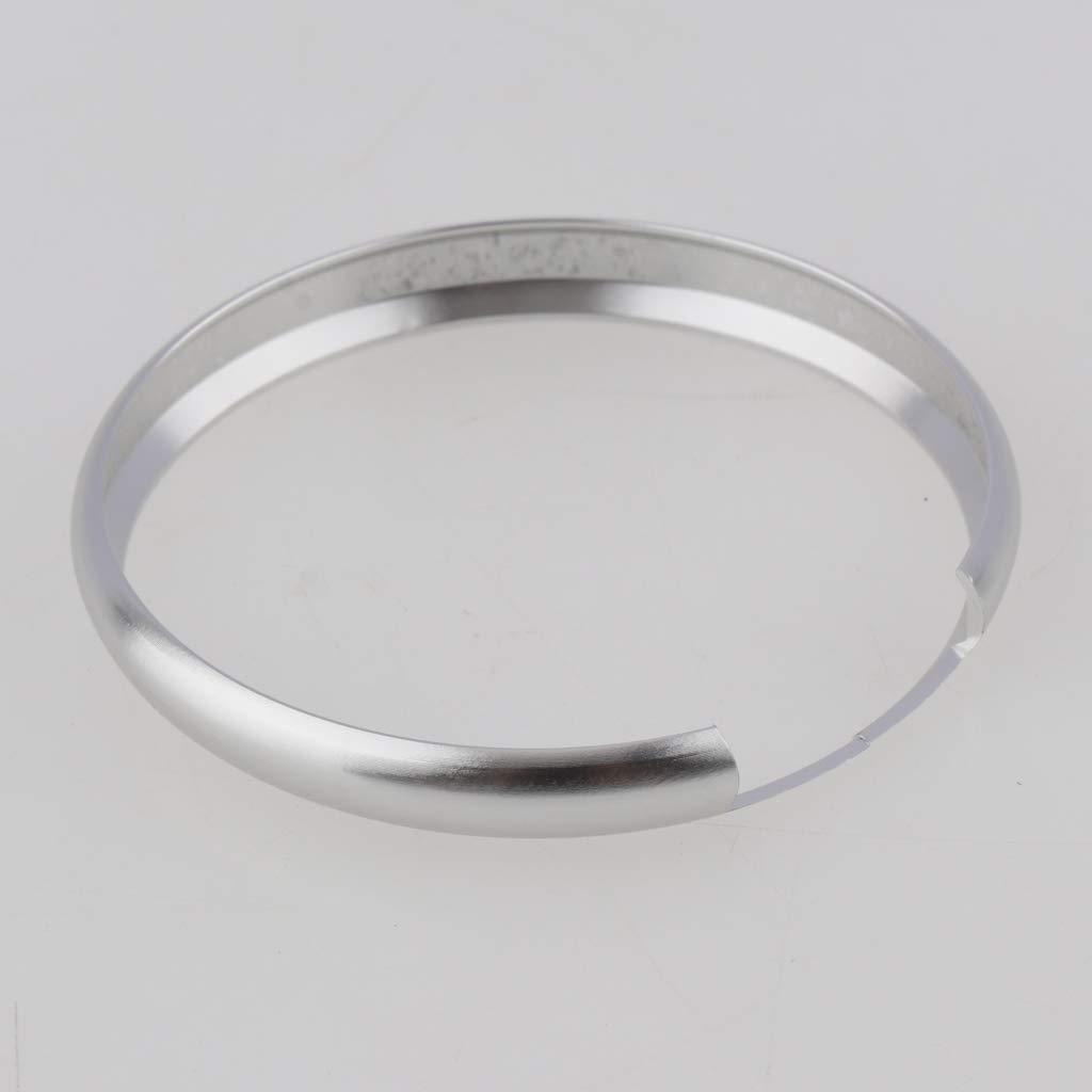 Almencla 2 Piezas De Alumnium Smart Key Fob Ring Rim Reemplazo De Anillos De Protecci/ón Para Mini Cooper Countryman Oro Y Plata