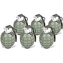 Sunny Days Entertainment Maxx Action Commando Series Toy Hand Grenades with Lights and Sounds (Pack of 6)