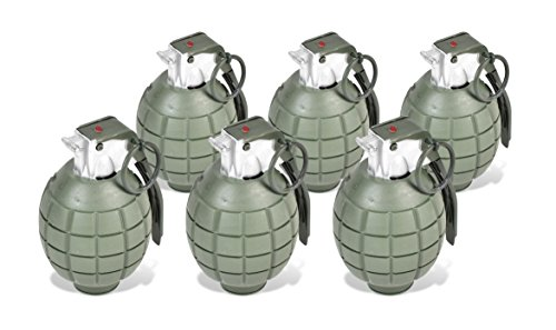 Maxx Action Commando Series Toy Hand Grenades with Lights and Sounds (Pack of 6)