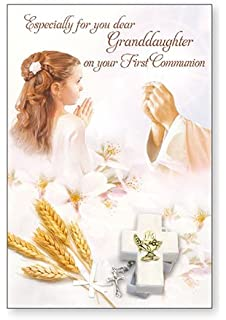 photograph regarding Printable First Communion Cards called Granddaughter To start with Holy Communion Card: .united kingdom