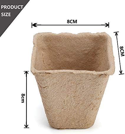 AIXMEET Semilleros Biodegradables, 100pcs 8cm Macetas para Flores ...