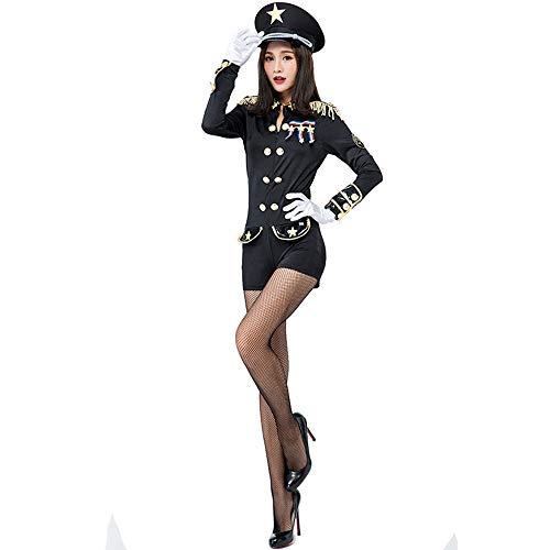 Honfill Women Cop Officer Costume Police Uniform Badge