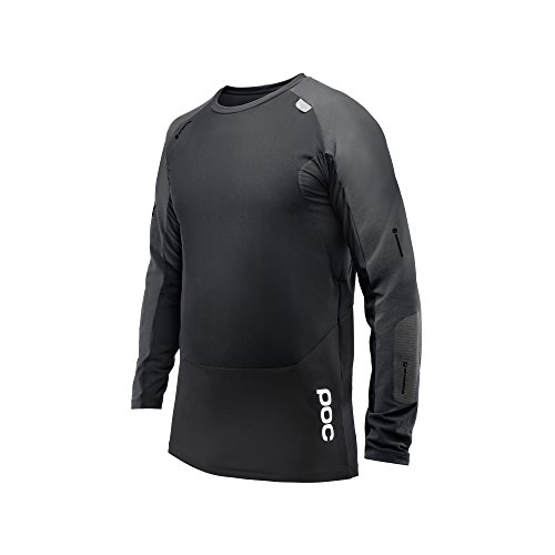 (POC Resistance DH LS Jersey, Long Sleeve Cycling Jersey, Carbon Black, L    )