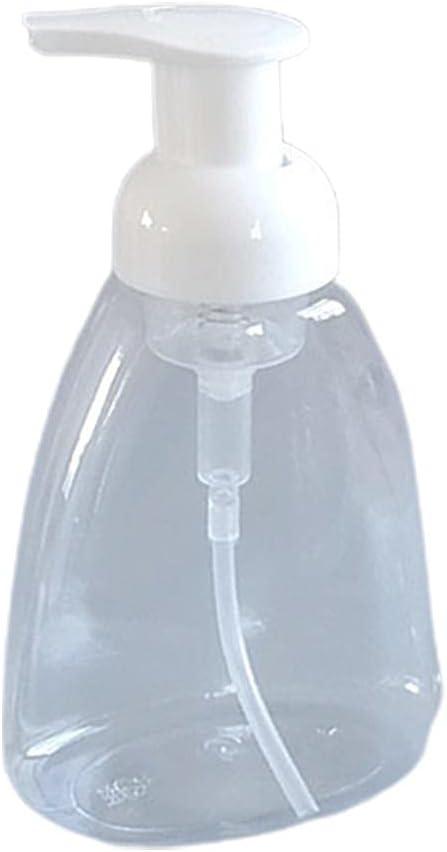 JSSEVN 300 ml jabón líquido dispensador de Espuma Transparente Botella de contenedor vacío Espuma Bombilla Botellas vacío líquido Mano contenedores de jabón para Cocina baño