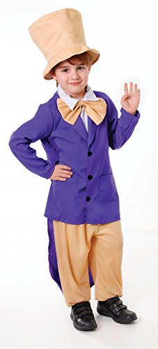 [Large Boy's Chocolate Factory Boss Costume] (Child Willy Wonka Costumes)
