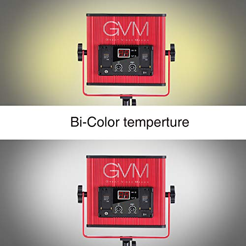 GVM LED Video Light 520 CRI97 + & TLCI 97+ 18500lux @ 20 inch Bi-Color 3200-5600K for Photography Video Lighting Studio Interview Portrait by GVM Great Video Maker (Image #7)