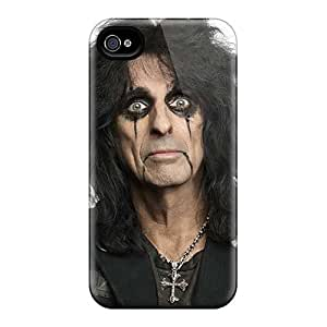 High Quality Mobile Case For Iphone 4/4s With Provide Private Custom Trendy Alice Cooper Band Pattern InesWeldon