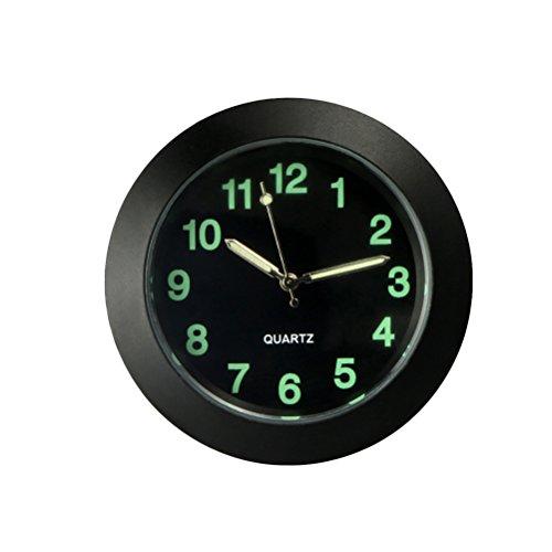 (VORCOOL Universal Car Air Outlet Clock Electronic Noctilucent Quartz Clock Luminous Pointer For Auto Interior Decoration (Black))