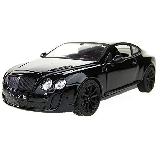 Bentley Bath Lighting - Kikioo Model 1:18 Convertible Black Car Model Alloy Static Simulation Car Model Flashing Light Dasher Drifting Stunt Vehicle Hobby Toys Vehicles Collection Holiday Birthday Gifts (Color : Black)